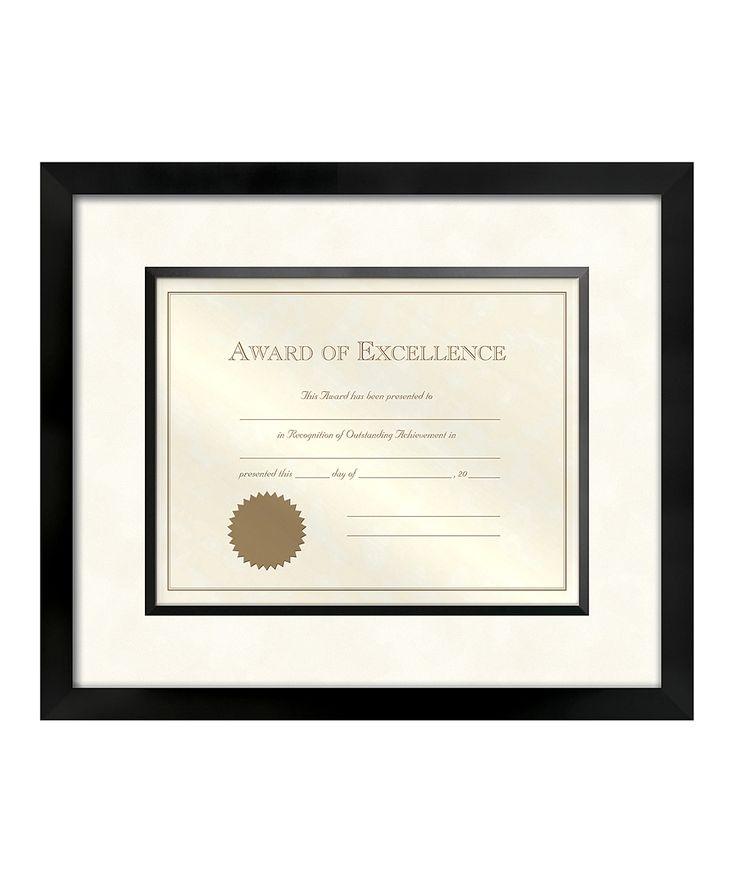 Walnut Wood Matted Certificate Frame