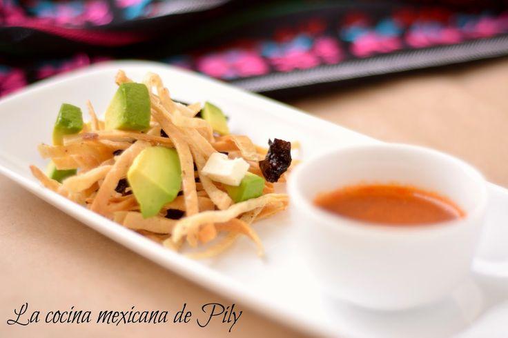 La cocina mexicana de Pily: Sopa de tortilla
