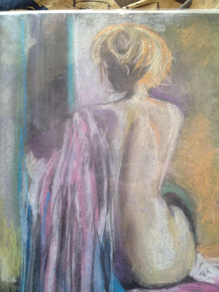Woman. Pastels