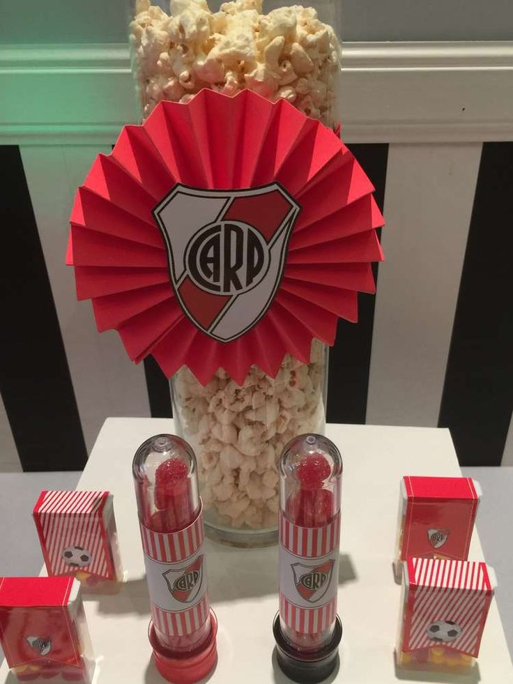 Popcorn at a soccer birthday party! See more party ideas at CatchMyParty.com!