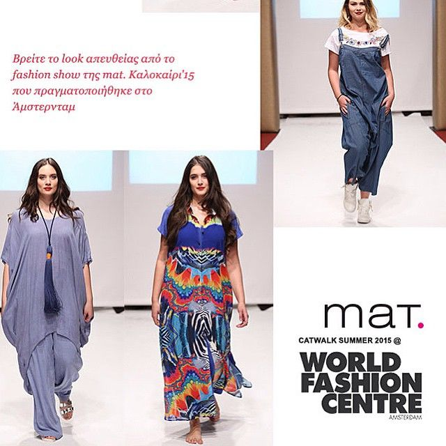 Sneak Preview II of #matfashion #catwalk in Amsterdam! #fashionshow #amsterdam #ootd #dresslike #instafashion #realsize #fashion #inspiration #ss15 #collection