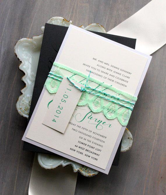 inspiration dentelle organizer votre mariage lgant ides des faire part et robe de - Etsy Faire Part Mariage