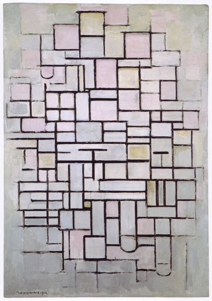 Piet Mondrian – Composition No. 6, 1914
