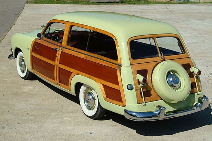 1951 Woody #cars.  Dreaming of a tow vehicle like this one when I get my little vintage trailer!