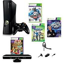 Xbox 360 4 Gb Kinect System with Madden NFL 25 Football & Minute to Win It