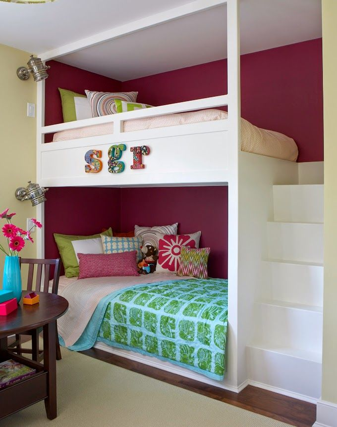 Not enough turquoise for me but love the bunkbeds House of Turquoise: Rachel Reider Interiors