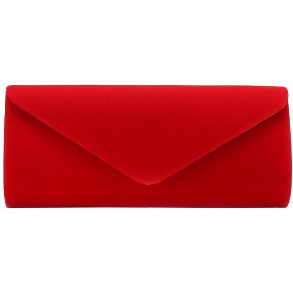 Charming Tailor Velvet Evening Bag Clutch Dress Purse for Wedding... ($19) ❤ liked on Polyvore featuring bags, handbags, clutches, velvet evening bag, evening bags, velvet clutches, evening handbags and red hand bags