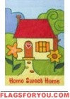 Home Sweet Home Applique House Flag