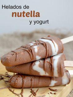 Helados de Nutella y yogurt (Solo 2 Ingredientes!!)   Cuuking! Recetas de cocina