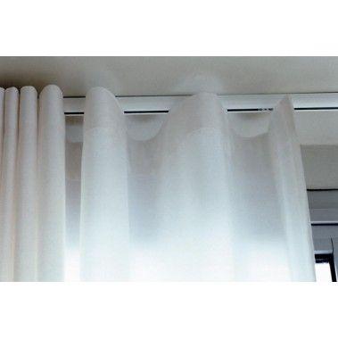 Silent Gliss 3840 Curtain Track White/Silver. GlidersWavesTrackCurtains