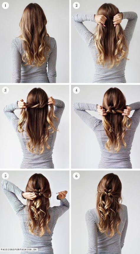 Einfache Frisuren Zum Selber Machen Hair Styles Pinterest Hair