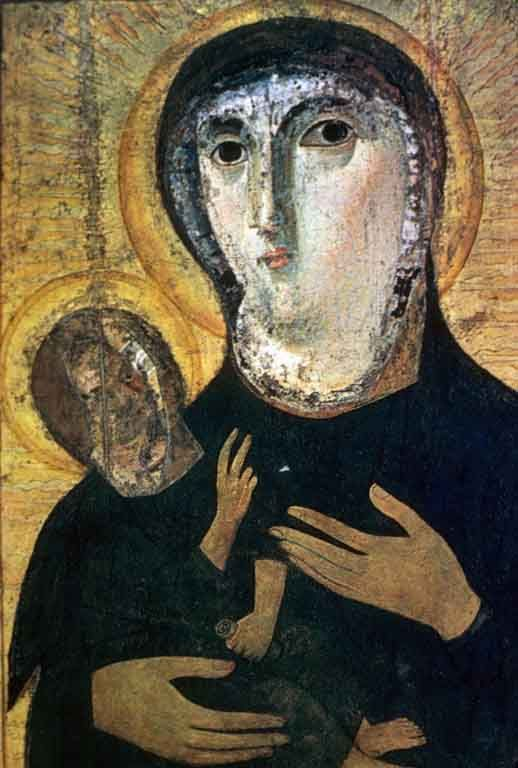 Icon of the Madonna and Child from Santa Maria Nova  http://inpress.lib.uiowa.edu/Feminae/DetailsPage.aspx?Feminae_ID=32395