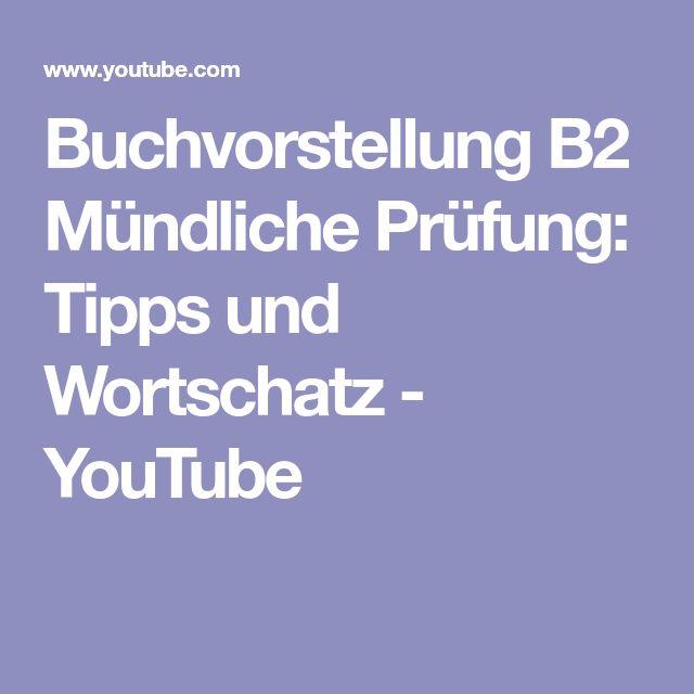 Buchvorstellung B2 Mündliche Prüfung: Tipps und Wortschatz - YouTube