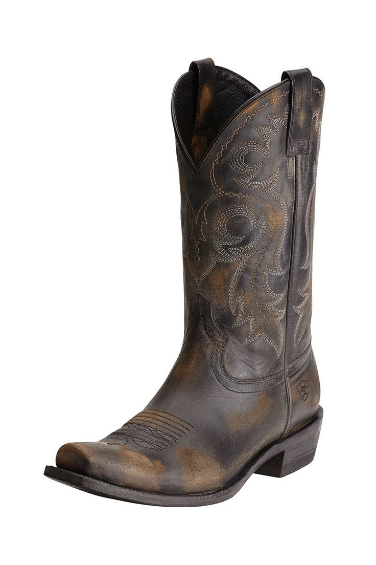 Ariat Lawless Rustic Black Men's Cowboy Boots - HeadWest Outfitters