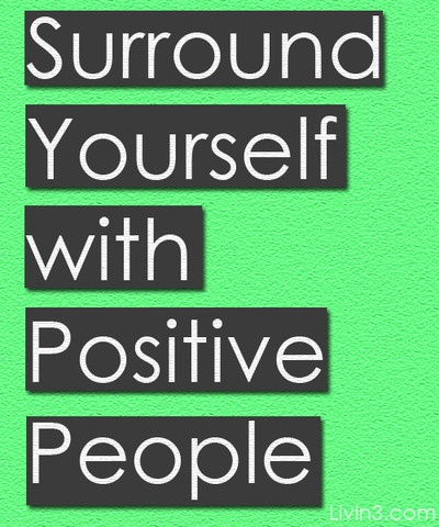 Surround yourself with positive people Positive Quote Poster