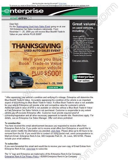 Enterprise Rent-A-Car Cash Back. Enterprise Rent-A-Car has teamed with Giving Assistant to save you money on your Enterprise car rentals. In addition, with the double cash back promise, Giving Assistant includes its sales commission from Enterprise in your cash back payment.