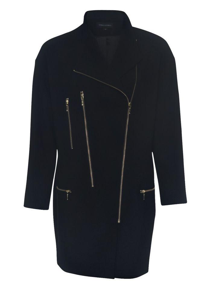 Howard Showers - Ollie Long Zip Jacket in Black, $249.00 (http://shop.howardshowers.com.au/ollie-long-zip-jacket-in-black/)