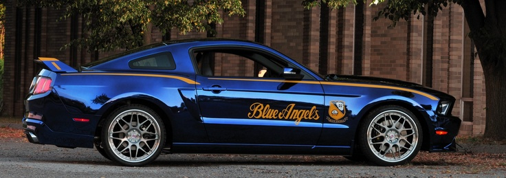 "One of a kind Ford 2012 ""Blue Angels"" Mustang GT. Created to be auctioned off to benefit the EAA Young Eagles program during AirVenture 2011."