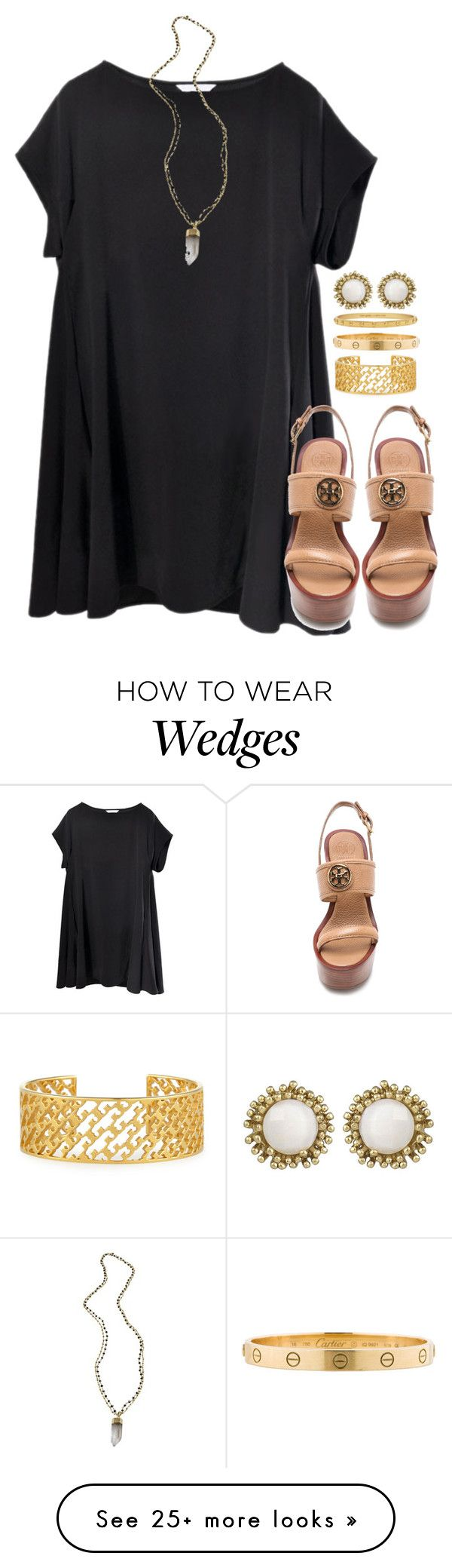 """""""hoco tomorrow"""" by tabooty on Polyvore featuring Tory Burch, Alexandra Beth Designs, Cartier, Kate Spade and Kendra Scott"""
