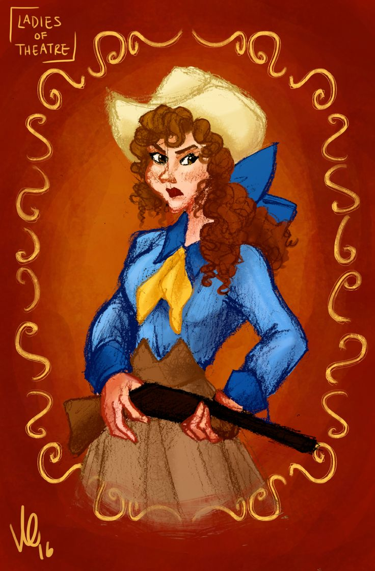 """""""Oh my mother was frightened by a shotgun, they say that's why I'm such a wonderful shot!""""Day 62: Annie Oakley (Annie Get Your Gun) By Kendyll Romine"""