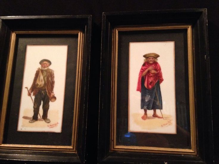 Listed Artist Hector Moncayo Oil on Stone Ecuadorian Man and Woman Set #Realism