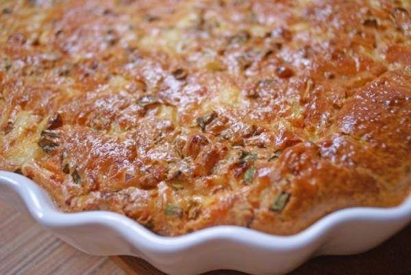 Очень простой заливной пирог для несладкой начинки - Простые рецепты Овкусе.ру