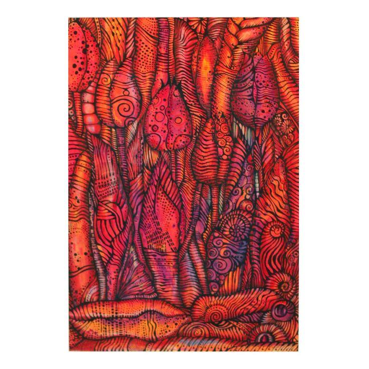 Tulipany z tatuażem | Rysunek | 29,7 x 21 cm