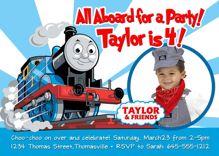 Birthday Invites For Boys Thomas The Train
