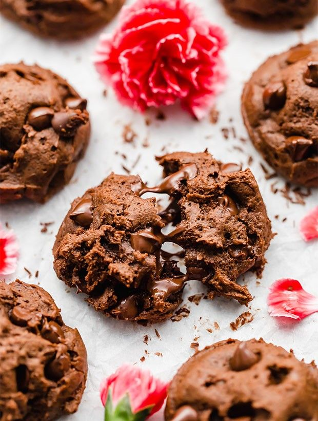 Pin By Megan M On I Ll Bring Dessert Double Chocolate Chip Cookies Chocolate Chip Cookies Food Processor Recipes