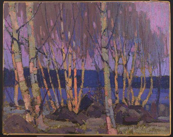 Tom Thomson. Evening, Canoe Lake | AGO Art Gallery of Ontario