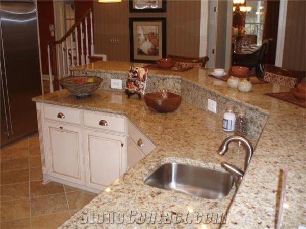 St Cecelia Granite Island Top, Giallo Santa Cecilia Yellow Granite Island Top