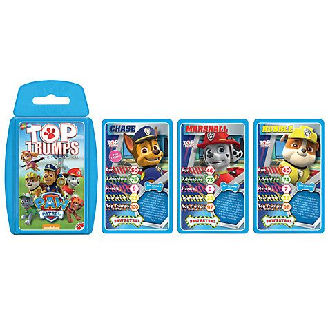 Buy Top Trumps PAW Patrol Online at johnlewis.com