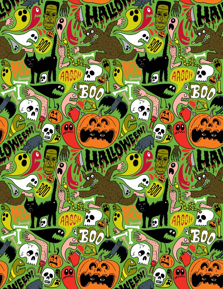 Halloween Pattern Wallpaper Ahe: backgrounds on pinterest ...