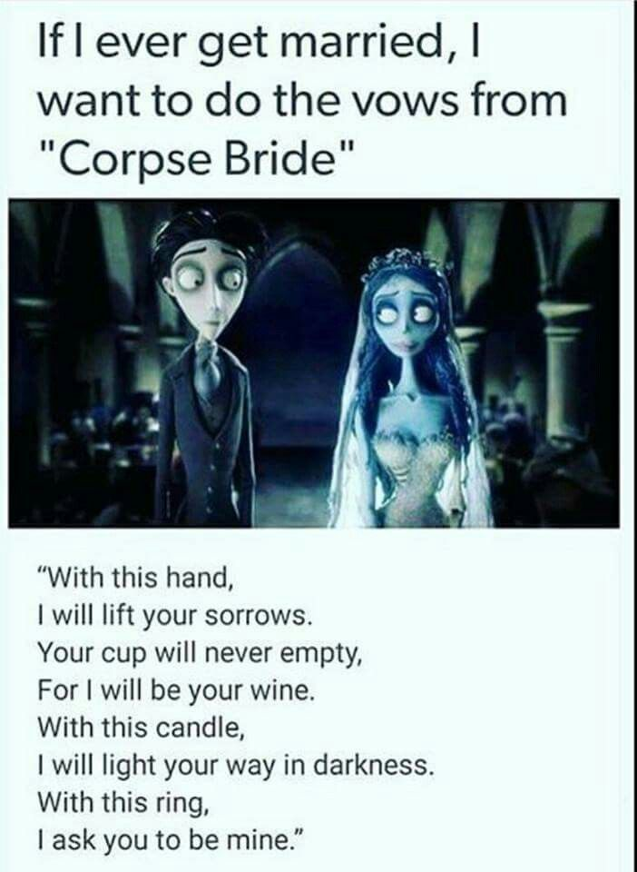Corpse bride vows