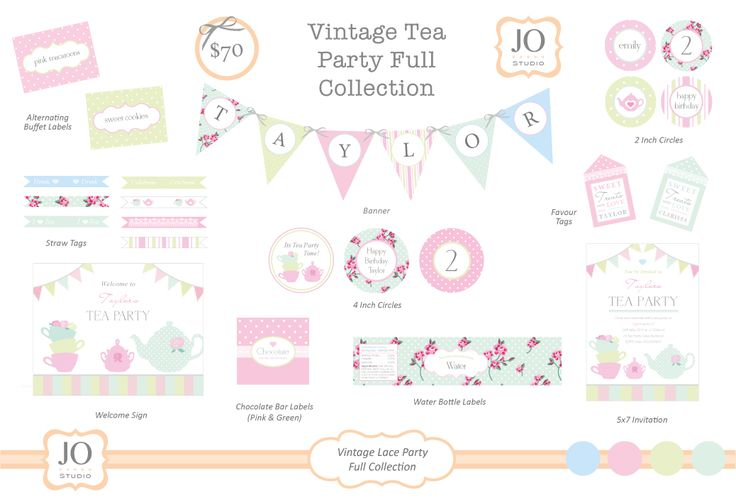 Party printables Tea Party supplies and shopping guide | Life's Little Celebrations