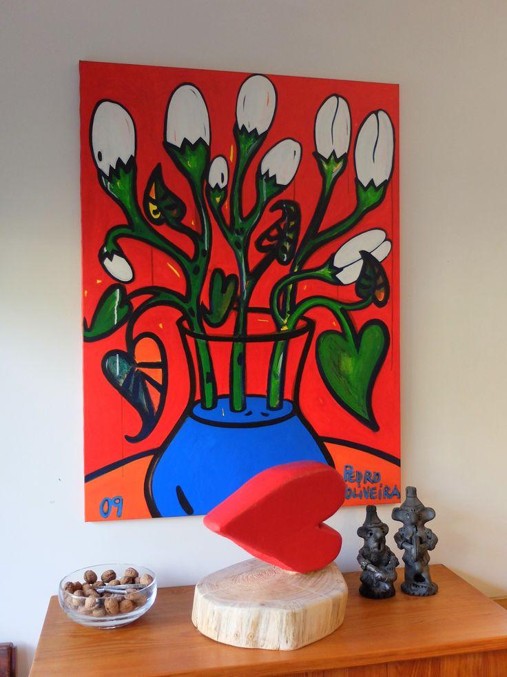 Estúdio do pintor Pedro d'Oliveira em Anadia, Aveiro, Portugal em dez.2015.