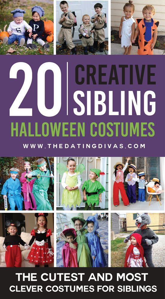 These sibling costume ideas are absolutely adorable! I can't wait for Halloween! www.TheDatingDivas.com