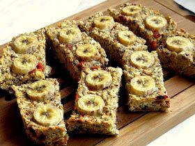 Ovesné tyčinky s banánem a goji