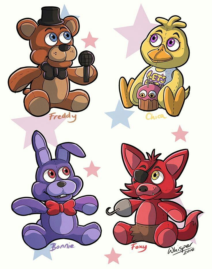 The fnaf characters as stuffed animals | Милые рисунки ...