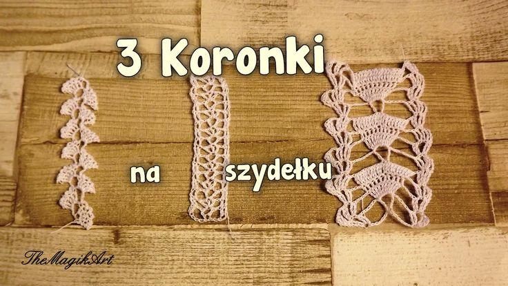 3 koronki - Szydełkowanie bez tajemnic