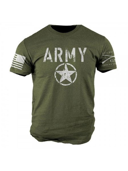 I Love My T shirt Because Says ARMY OD Green T