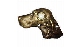 Novelty Custom Hardware - Door Bells Collection - Dog Head Door Bell - ( 924 )