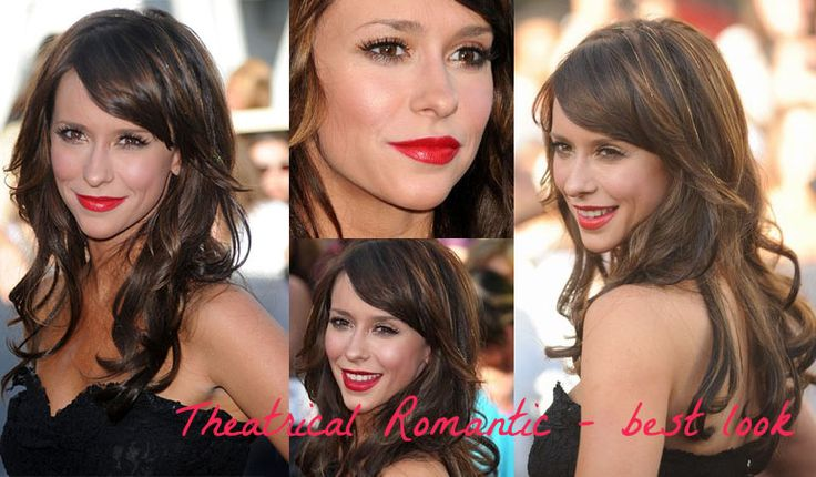 Jennifer Love Hewitt - best look for Theatrical Romantic. Typ urody Theatrical Romantic – femme fatale