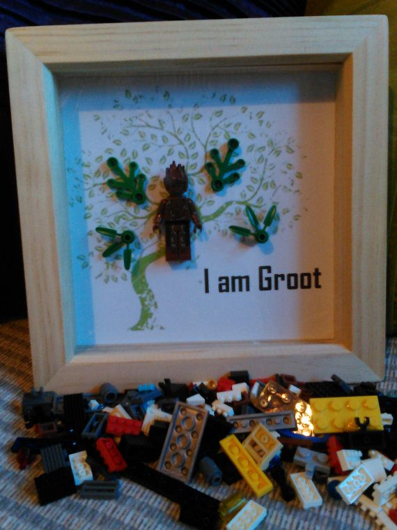 Handmade Brick Figure 'I am Groot' by DanMakesWithLove on Etsy