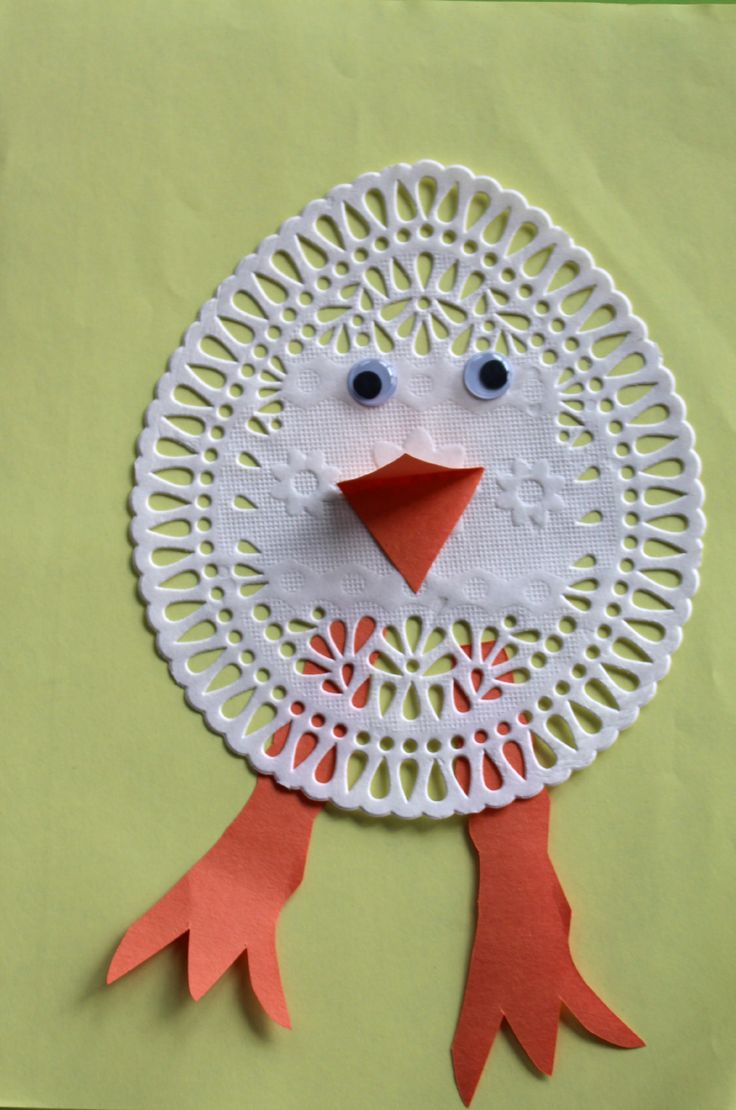 Easter Arts And Crafts Doily Chick Easter For Kids