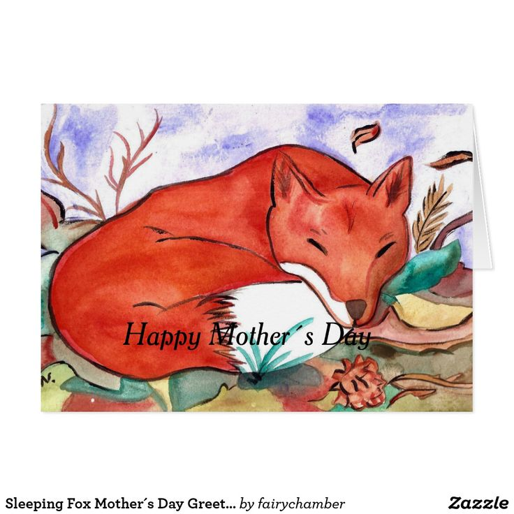 Sleeping Fox Mother´s Day Greeting Card