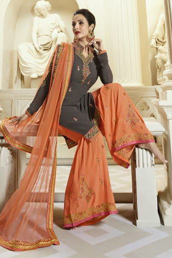977cd5bb8d Buy Fiona Present #Maliaka #Sharara Georgette With Heavy #EmbroiderySuit  Brand: Fiona Catalog: Maliaka Sharara FABRIC DETAILS Fabric: Georgette with  heavy ...