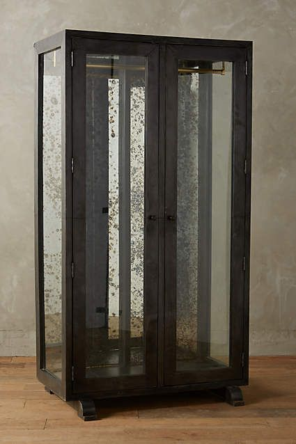 Mirrored Display Armoire   Anthropologie.com
