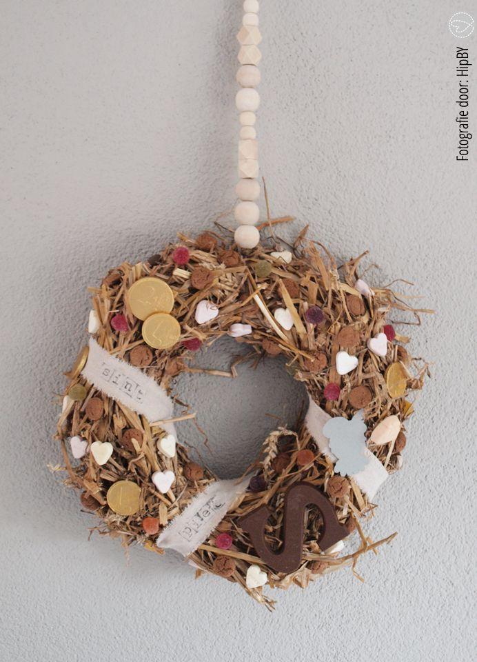 Een warm en jummie welkom voor Sint en zijn pieten met deze krans!