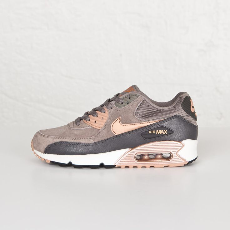 Damen Nike Air Max 90 Leather Iron/rote Bronze-Sail
